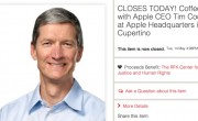 Leilo para tomar caf com Tim Cook termina com oferta de 610 mil dlares