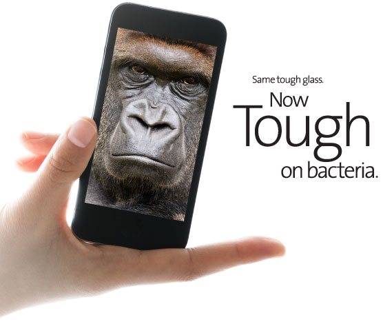 Gorilla Glass Antibacteriano – Próximo iPhone será mais limpo